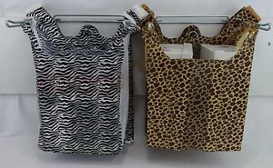 Design-T-Shirt-Bags-Leopard-or-Zebra-Print-11-5-x6x21-Shopping-Bags-with-Handles