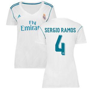3fb1478de adidas Real Madrid 2017 - 2018 Womens Sergio Ramos   4 Home Soccer ...