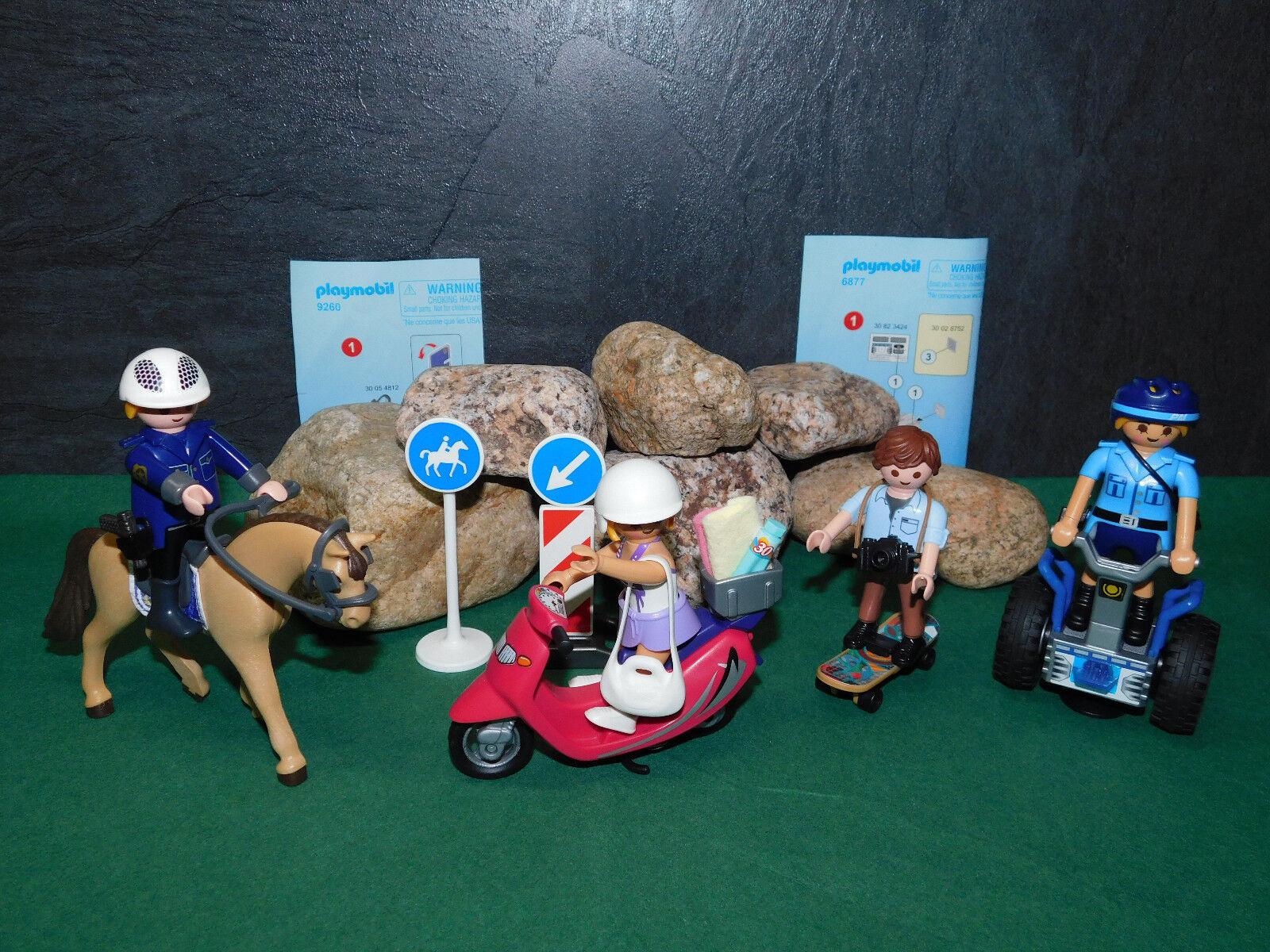Playmobil Polizisten (9260 u. 6877), Strandgirl (9084) u. OVP Skater, ohne OVP u. afc14c