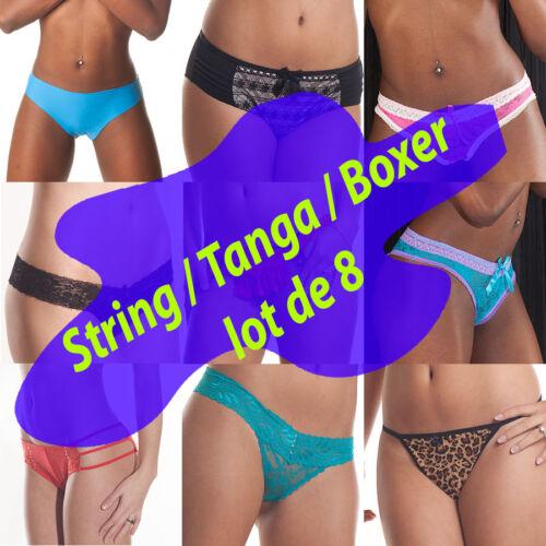 STRING /& BOXERS lot de 8 pièces
