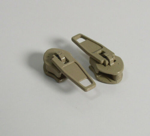 #5 Metal Zipper Slider Tan//Beige Lot of 25 25