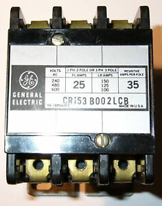 GE-General-Electric-Contactor-CR153-3-Pole-25-Amp-600-VAC-3-Phase