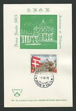 MALTESERORDEN SMOM S.M.O.M. MK 1975 PETERSDOM AUSTRIA FLAG MAXIMUM CARD MC d2703