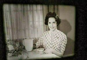 16mm film Folgers 1961 B&W TV Commercial coffee Ad RARE! Mountain Grown Woman