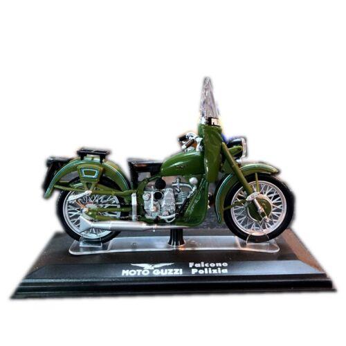 1:24 Moto Guzzi Falcone Polizia Motorcycle Model Toy