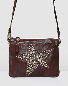 NEW Jo Mercer Campomaggi Joplin Cross Body Bag Wine Leather Accessories