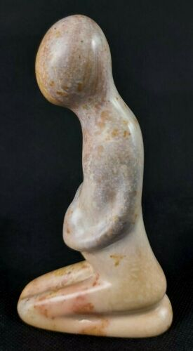 Africa Hand Carved in Kenya Mother and Child Maternity Soapstone Statuette