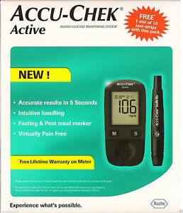 Accu Chek Active Blood Glucose Gluco Meter Monitoring