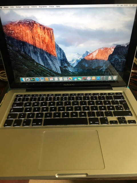 MacBook Pro, A1278, 2,5 GHz, 4 GB ram, 250 GB harddisk,…