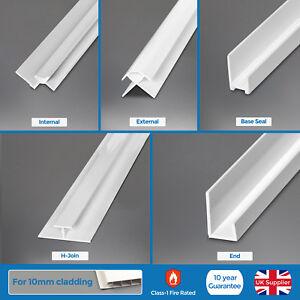 Bathroom 10mm Trims For Shower White Wall Panels PVC ...