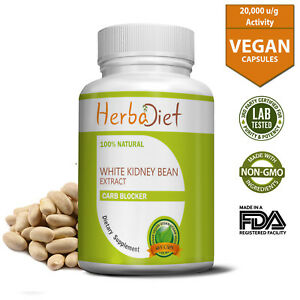 60 Capsules Carb Blocker Starch Intercept Diet Weight Loss White Kidney Bean 732058532683 Ebay