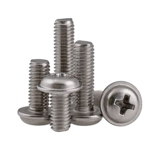 M2 M2.5 M3 Flanged Button Round Washer Head Phillips Screws 304 A2 Stainless