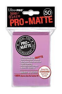 50-ULTRA-PRO-Pro-Matte-Deck-Protector-Card-Sleeves-Magic-Standard-84185-Pink