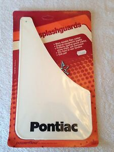 PONTIAC-SPLASHGUARDS-POWERFLOW-WHITE-NEW