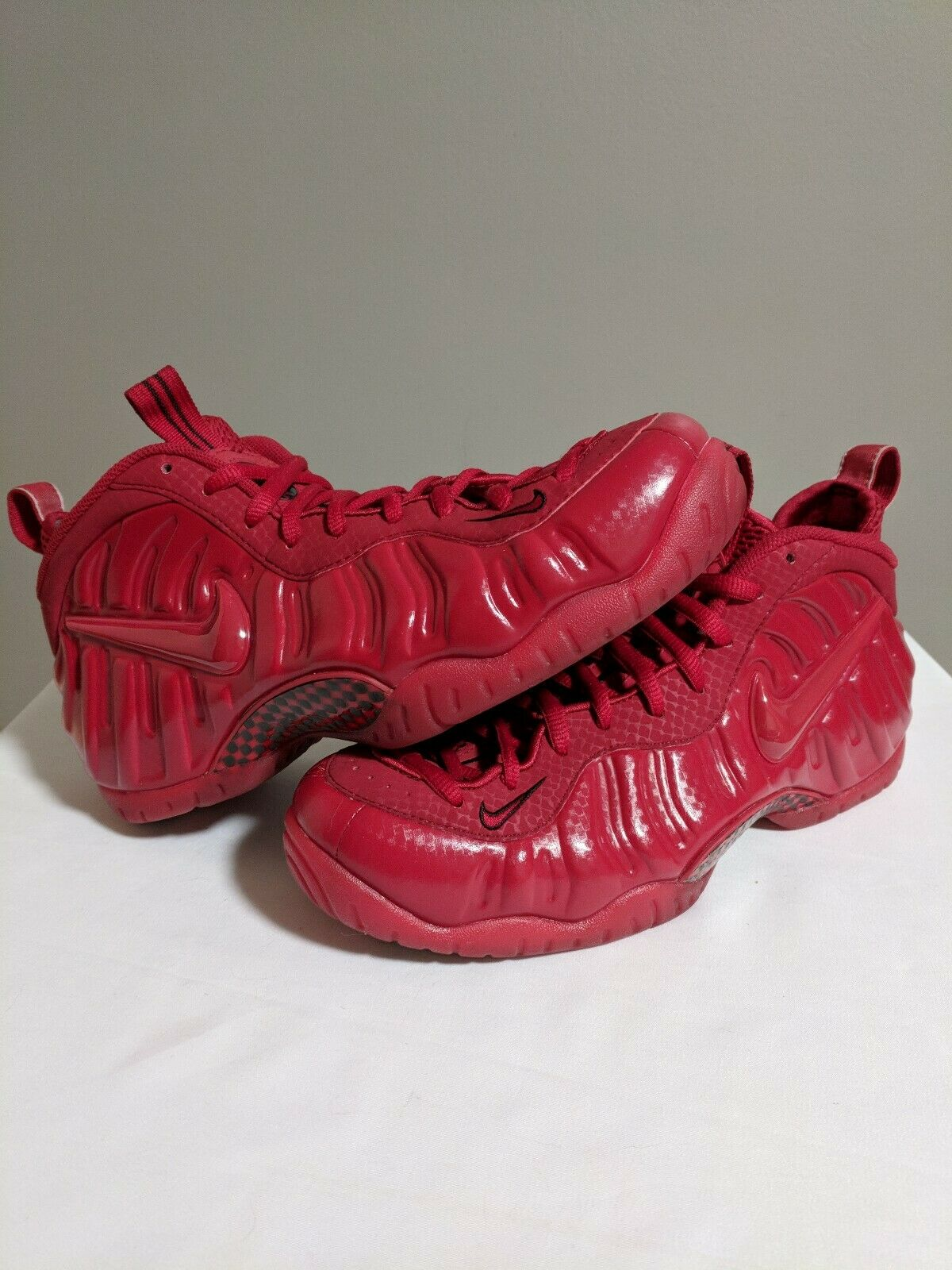 Nike Air Foamposite Pro Gym Red October black Men's Size 8.5 bred free shipping
