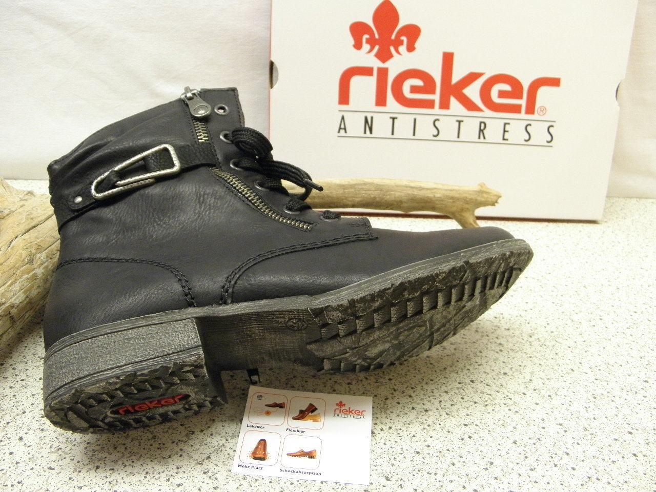 Rieker ® ROTuziert, Top  Preis    Top Topmodisch Stiefel  schwarz (R408) 30fbbe