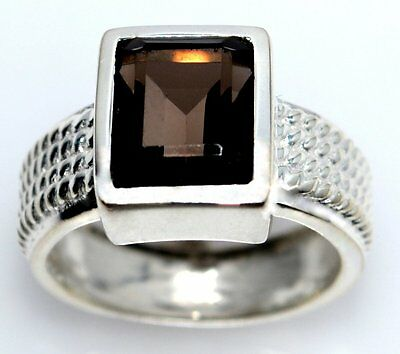 Emerald cut green Amethyst Sterling Silver Ring New 925 Rings Size 5½ L to 10 U