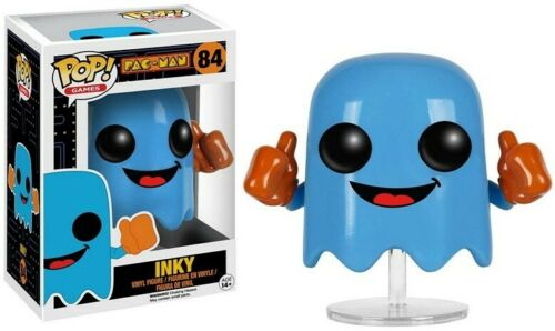 NUOVO Ufficiale FUNKO POP Giochi Pac-Man Inky Figura in vinile #84