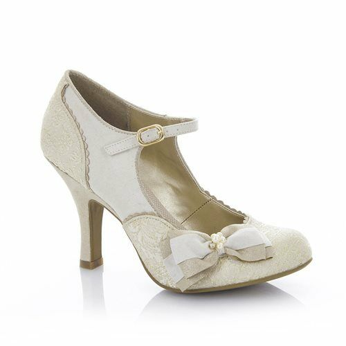 Ruby Shoo Maria Cream/Gold Wedding Schuhes High Heel