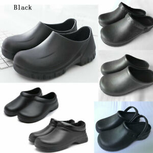 Slip-on Chef Shoes Chef Boots Boat shoes Non-slip Kitchen Oil-resistant Black