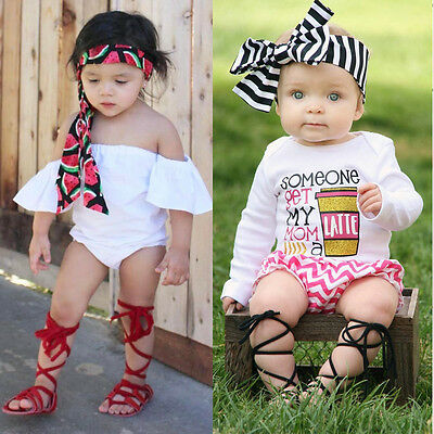 Newborn Infant Baby Girl Gift Leather Bandage Sandals Summer Pram Flat Shoes