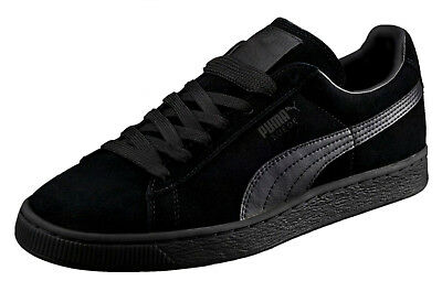 PUMA Suede Classic Leather Black Black Formstrip Mens Sneakers Tennis Shoes | eBay