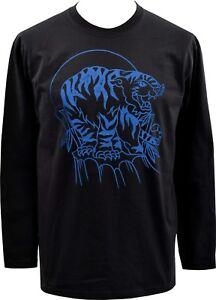 Para hombre Raglán Camiseta De Manga Larga Tradicional Marino Tiger Tatuaje Vintage Rockabilly