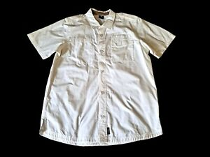 Nike Air Jordan Classic Air Jordan Jumpman Mens White S/S Button Front Shirt L
