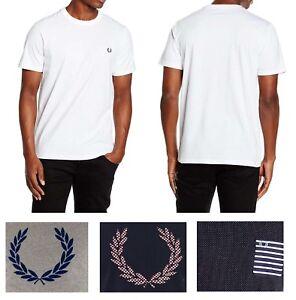 Fred-Perry-Men-039-s-NEW-Crew-Neck-Short-Sleeve-Tennis-Shirt-Series-T-Shirt-Tee