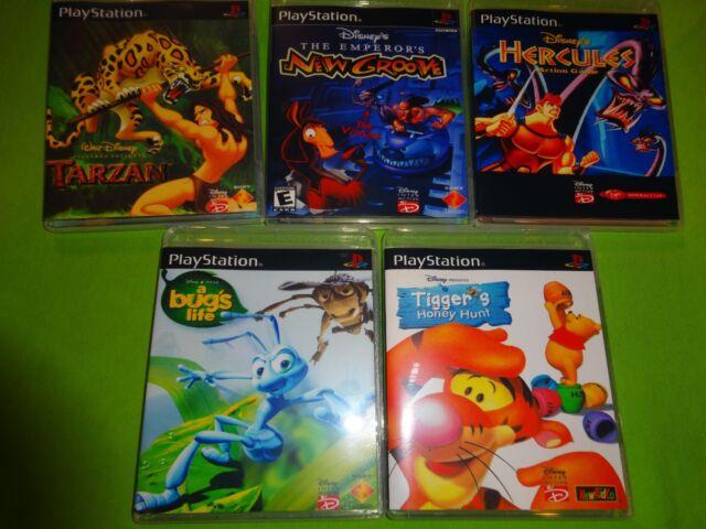 EMPTY CASES! Disney's Hercules Tarzan Bugs Life Emperors New Groove Tiggers Hunt