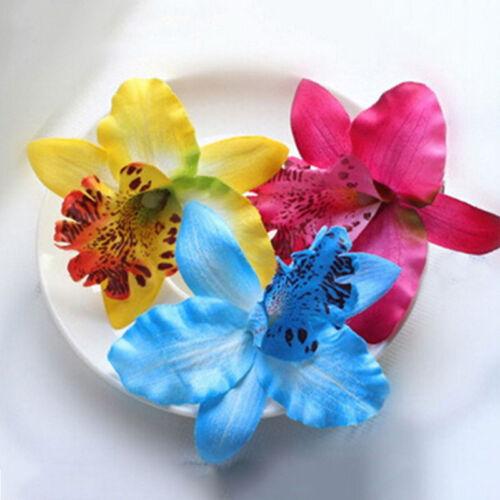 Fashion Bridal Wedding Orchid Flower Hair Clip Barrette Women Girls Accessories