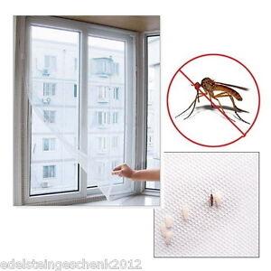 DIY-Fliegengitter-Insektenschutz-Fenster-Fliegenetz-130x150cm-mit-5M-Kleber-Weiss