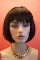 Darkest Brown Highlight Dark Auburn Medium Straight Wig