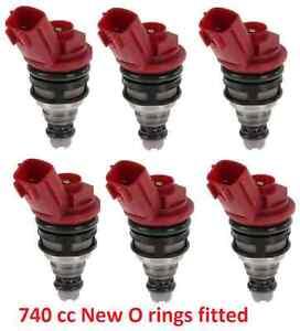 6-740cc-fuel-injectors-RR544-fit-Nismo-Nissan-Skyline-R33-RB25DET-ECR33