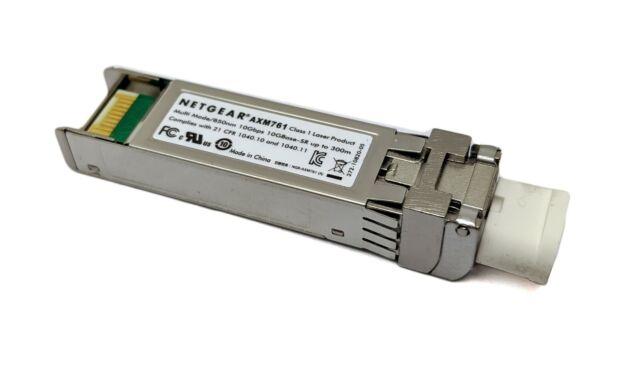 Véritable NETGEAR Prosafe AXM761 10GBASE-SR SFP+ LC Gbic Émetteur-récepteur