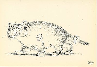 CARTE POSTALE ILLUSTRATEUR ALBERT DUBOUT / EXTRAIT DE ENTRE CHATS