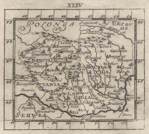 Transilvania Romania Cartina.Romania Transilvania Originale Incisione Cartina Geografica Muller 1692 Ebay