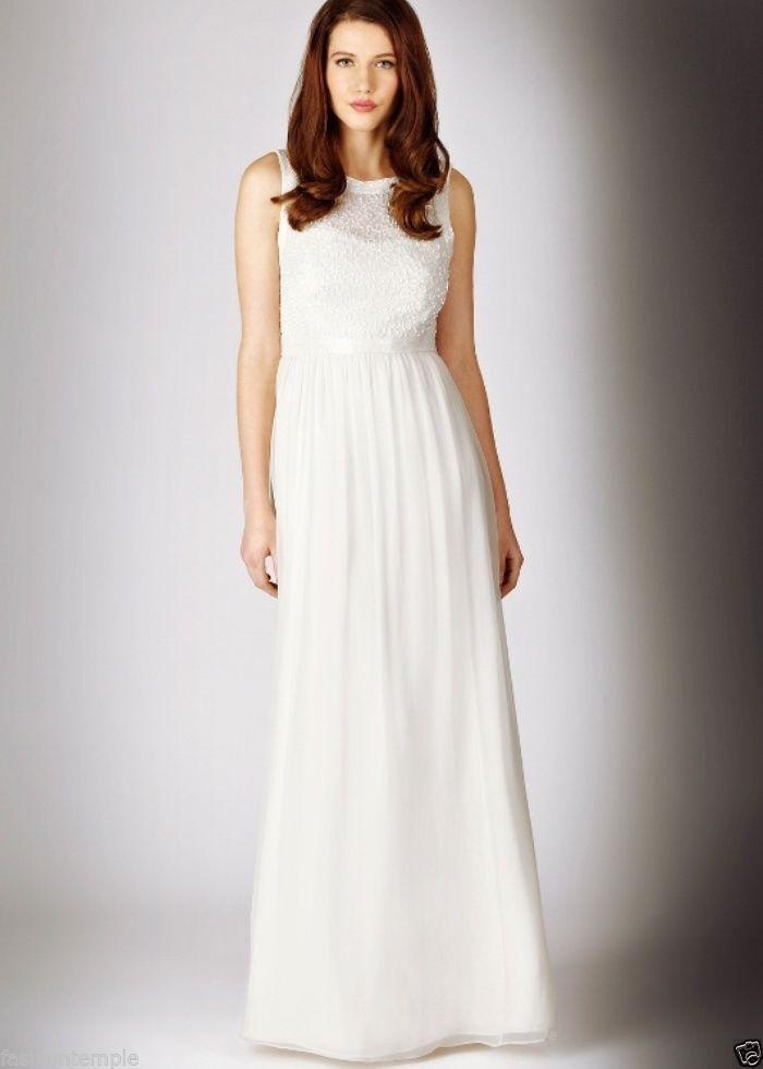 Coast Ivory Woherren Empire Waist Sia Maxi Bridal Sleeveless Wedding Dress