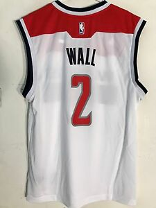 huge selection of 64291 f3767 Details about Adidas NBA Jersey Washington Wizards John Wall White sz 2X
