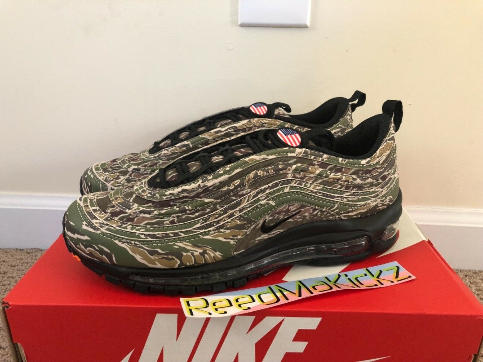 Nike Air Max 97 Premium QS Country Camo 205 USA Mens sizes AJ2614 205 Camo e0cc6f