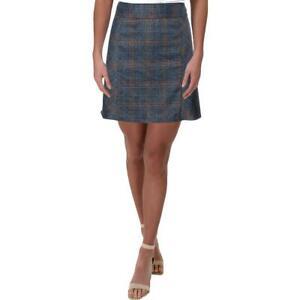 Lucca Womens Plaid Mini Casual A-Line Skirt BHFO 5841