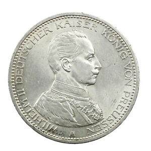Piece-Argent-Allemagne-5-Mark-Guillaume-II-1913-Superbe-Silver-Coin-Germany