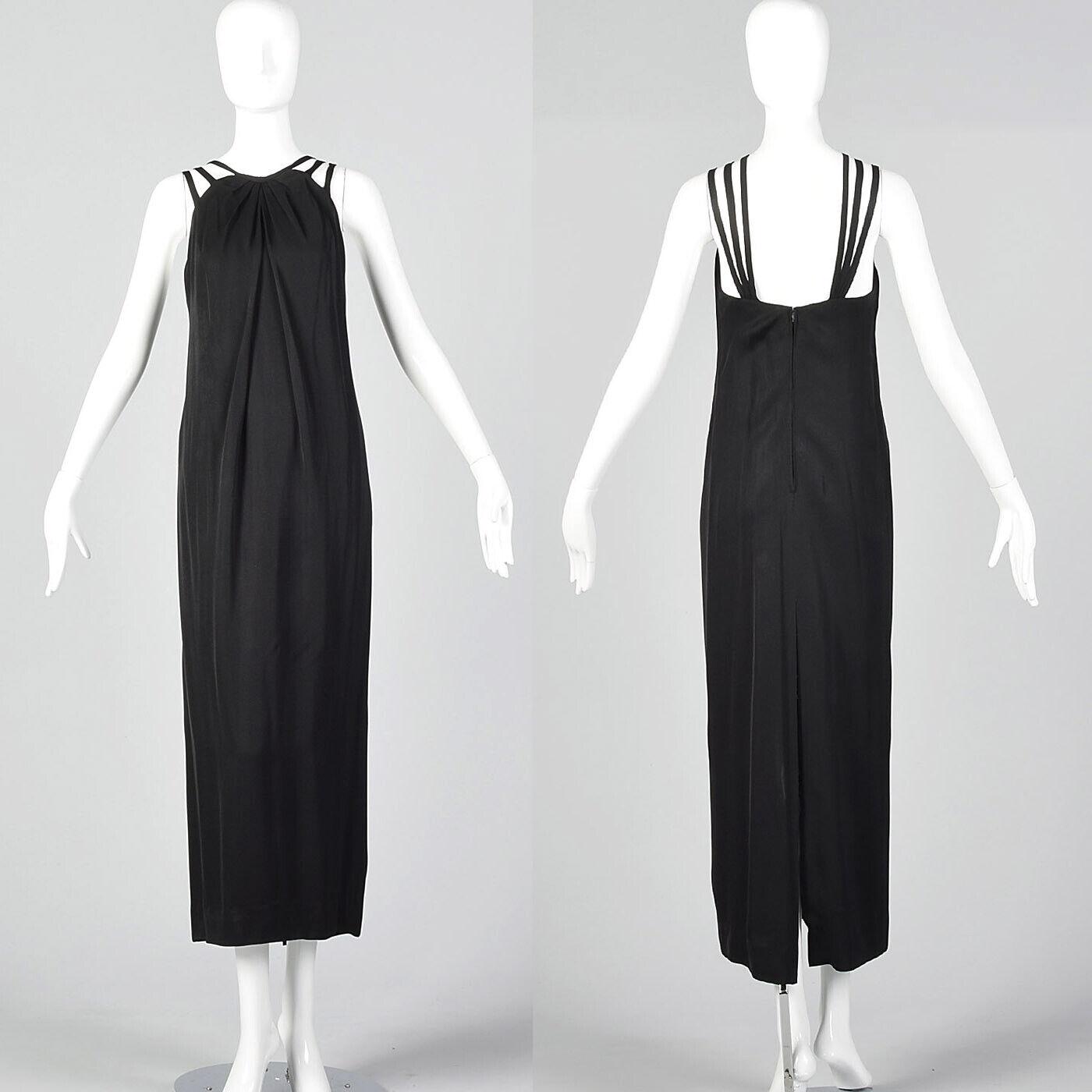 XXS 1960s Ceil Chapman Evening Dress Designer Bla… - image 1