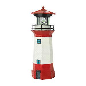 Solar-Leuchtturm-Strandlicht-LED-Leuchtfeuer-Leuchte-Solar-maritime-Deko-Garten