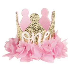 4fcd6cff54a Baby Girl 1st   2nd Birthday Party Hat Flower Crown Headband ...