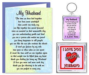 Image Is Loading Husband Verse Gift Set Card Keyring Amp Magnet