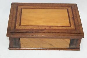 Antique-Wooden-Victorian-Jewellery-Sewing-Trinket-Chest-Box-Storage-L19xW27xH8cm