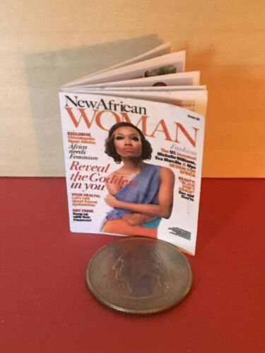 "1:6 Handmade mini toy for 11/""-12/"" fashion dolls New African Woman magazine"