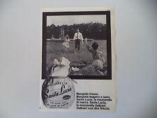advertising Pubblicità 1962 MOZZARELLA SANTA LUCIA GALBANI