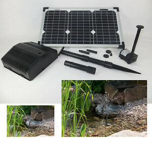 20 w solar pumpe gartenteich springbrunnen filter teich pumpenset tauch ebay. Black Bedroom Furniture Sets. Home Design Ideas